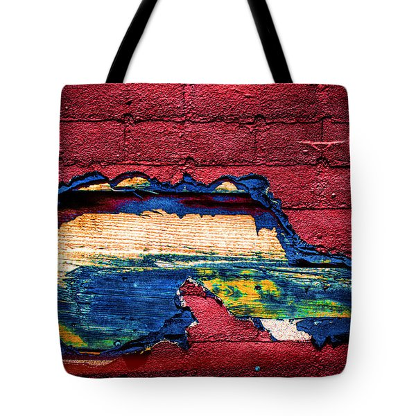 Police Car Abstract Tote Bag