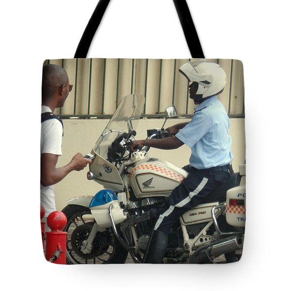 Police Escort Africa Tote Bag by John Potts