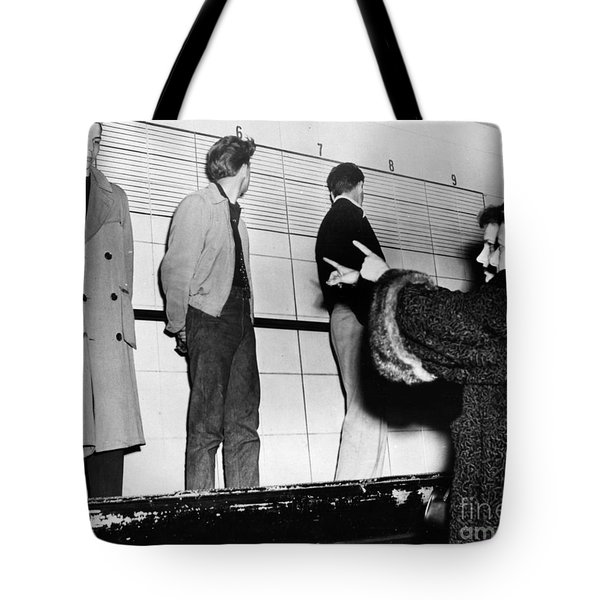Police Lineup, 1953 Tote Bag by Granger