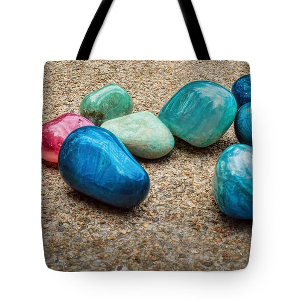 Tote Bag featuring the photograph Polished Stones - Photography by Ann Powell