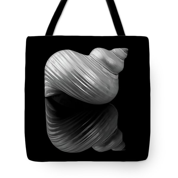 Polished Turban Shell And Reflection Tote Bag by Jim Hughes