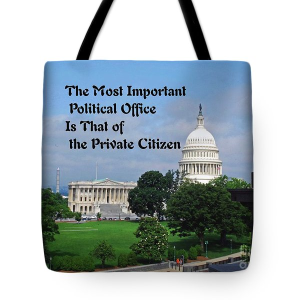 Political Statement Tote Bag by Gary Wonning