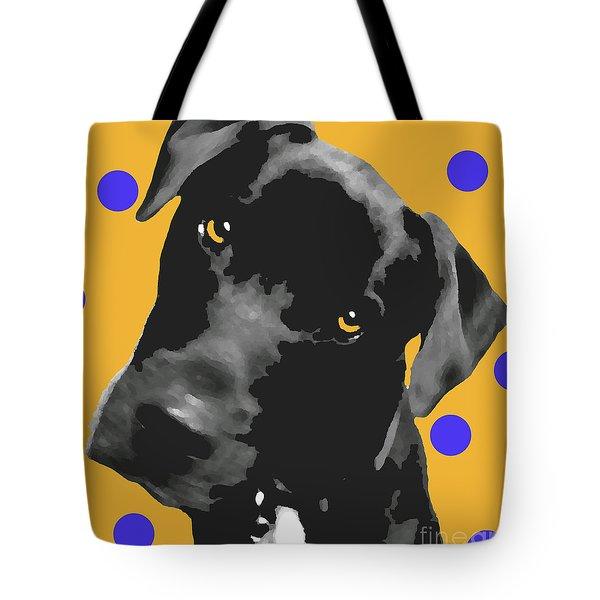 Polka Dot Tote Bag by Amanda Barcon