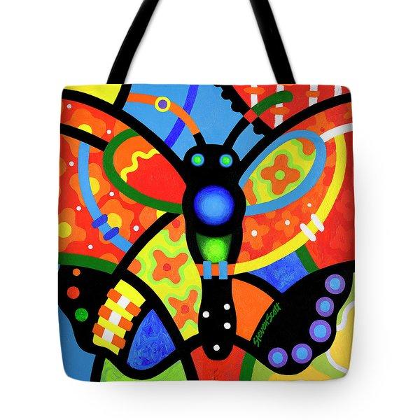 Kaleidoscope Butterfly Tote Bag