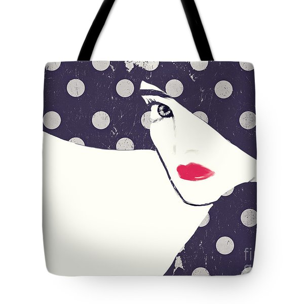 Polka Dot Fashion Hat Tote Bag by Mindy Sommers
