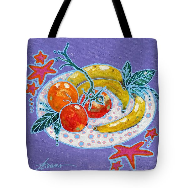 Polka-dot Plate  Tote Bag