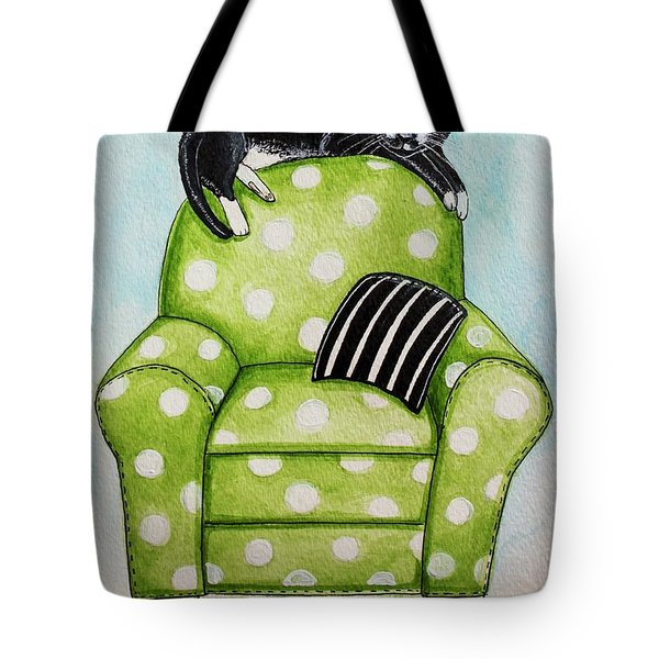 Polka Dot Snoozes Tote Bag by Elizabeth Robinette Tyndall