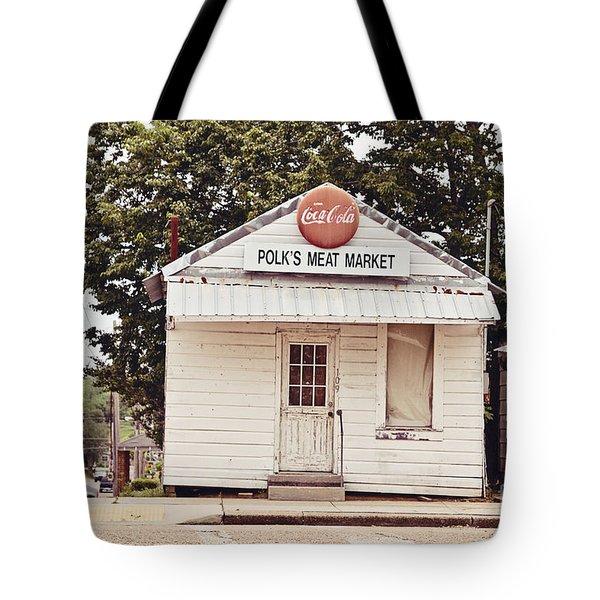 Polk's Meat Market Tote Bag by Scott Pellegrin