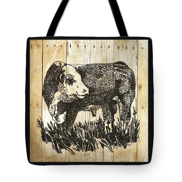 Polled Hereford Bull 11 Tote Bag