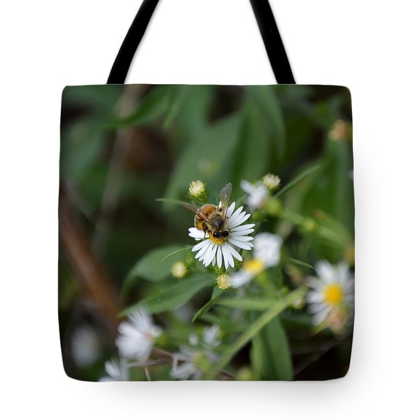 Tote Bag featuring the photograph Pollinatin' by W And F Kreations