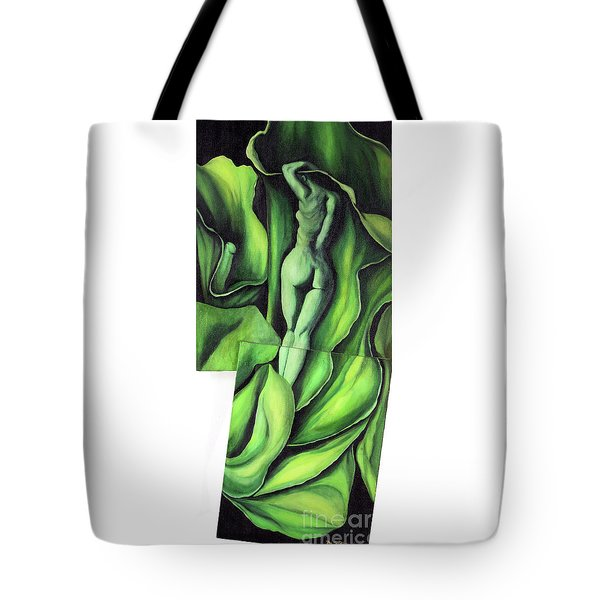 Tote Bag featuring the painting Pollination by Fei A