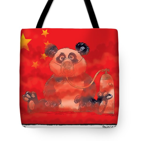 Pollution In China Tote Bag