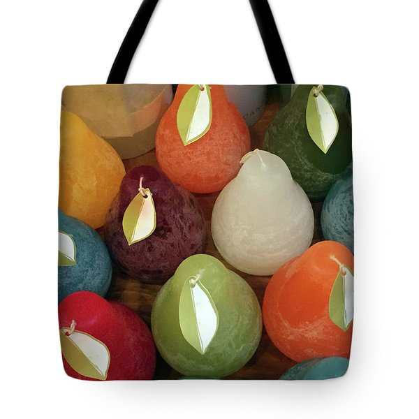 Polychromatic Pears Tote Bag