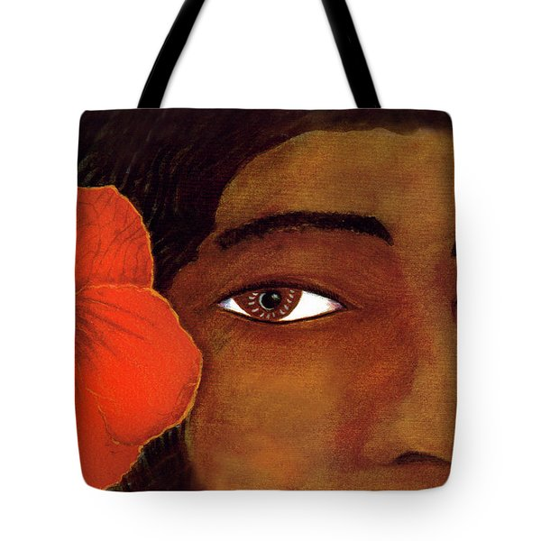 Polynesian Girl #67 Tote Bag by Donald k Hall