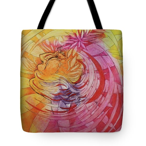 Tote Bag featuring the drawing Polynesian Warrior by Marat Essex