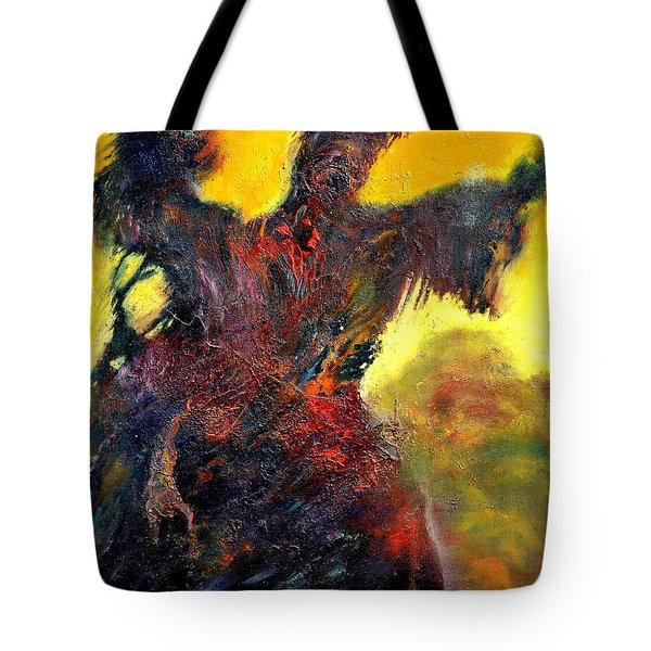 Polyphemus Hurling Boulders Tote Bag