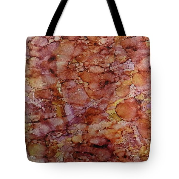Tote Bag featuring the painting Pomegranate Lemonaid Ink #15 by Sarajane Helm