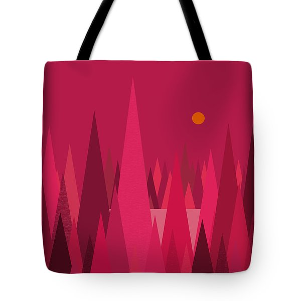 Pomegranate Wood Tote Bag