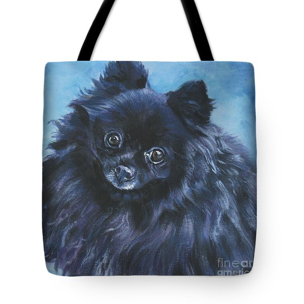 Pomeranian Black Tote Bag