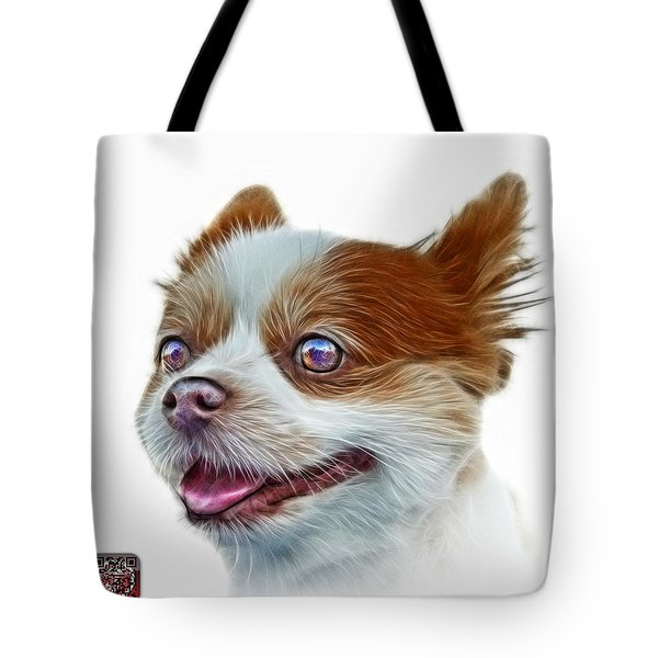 Pomeranian Dog Art 4584 - Wb Tote Bag