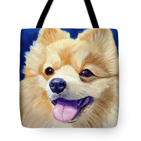 Pomeranian Tote Bag by Lyn Cook