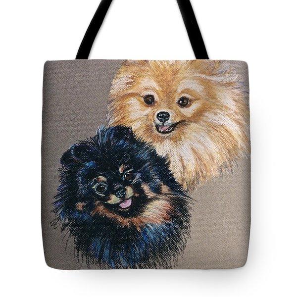 Pomeranian Pair Tote Bag by Susan Herber