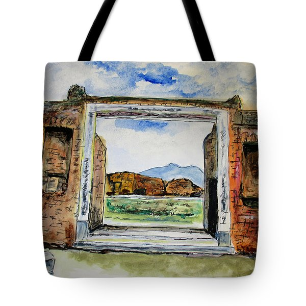 Pompeii Doorway Tote Bag