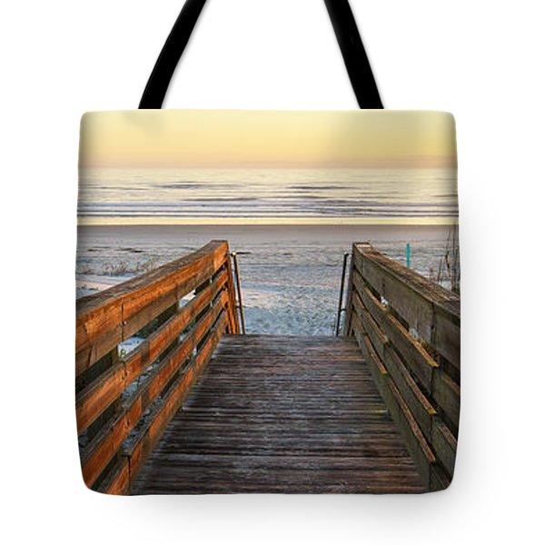 Ponce De Leon Inlet Beach Path Tote Bag