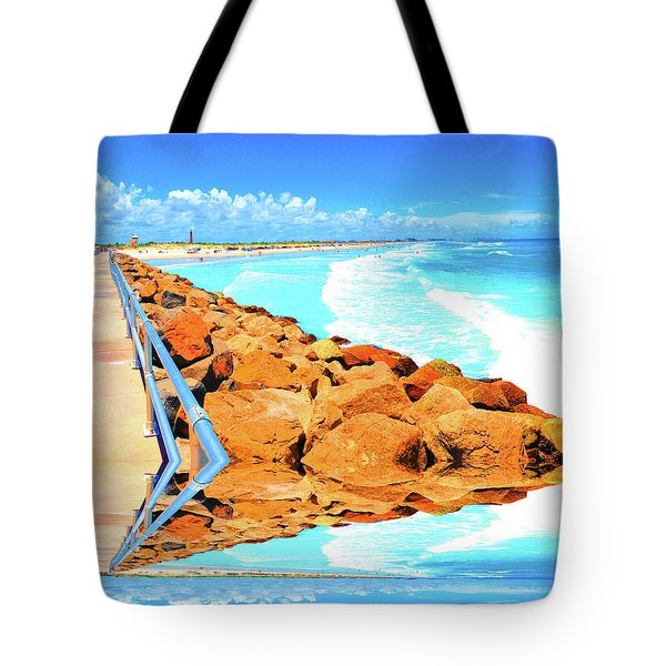Ponce Inlet Jetty  Tote Bag