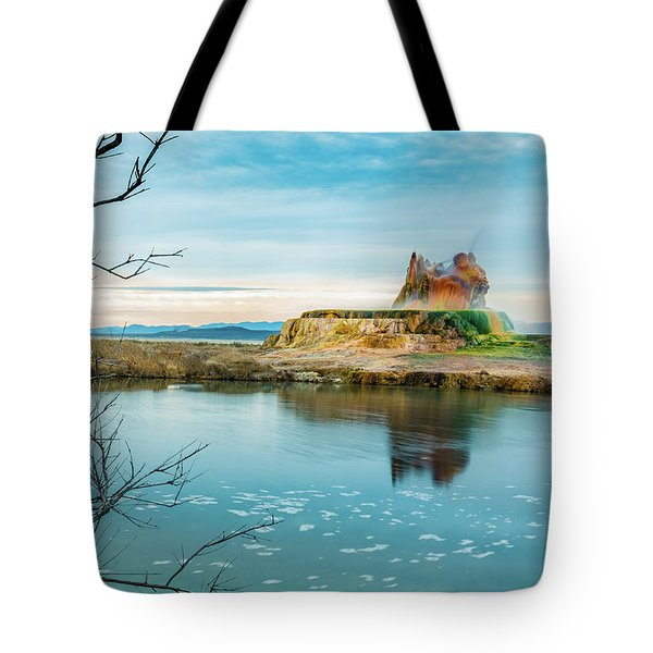 Pond And Geyser Tote Bag