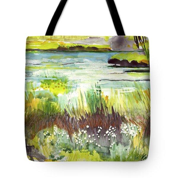 Pond And Plants Tote Bag