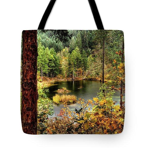 Pond At Golden Or. Tote Bag