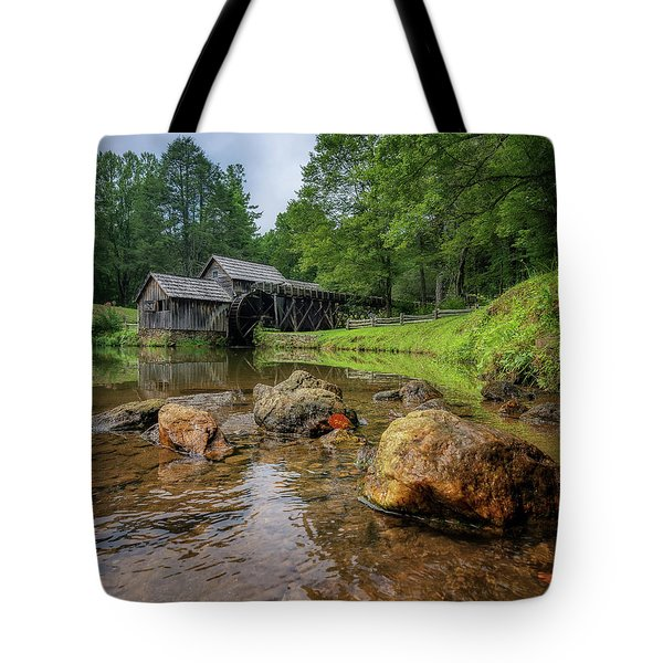 Pond At Mabry Mill Tote Bag