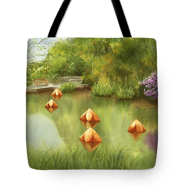 Pond At Olbrich Botanical Garden Tote Bag