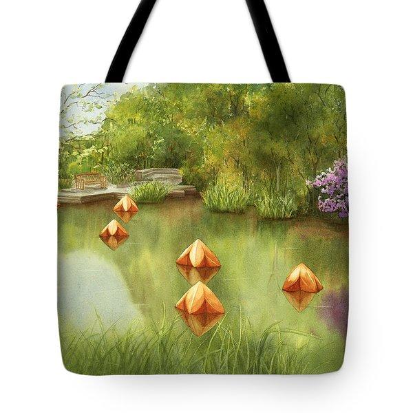 Pond At Olbrich Botanical Garden Tote Bag