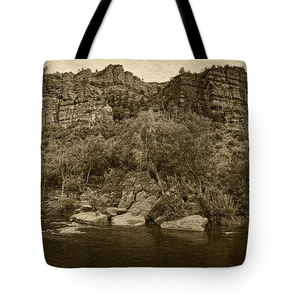 Pond At Red Rock Crossing Tint Tote Bag