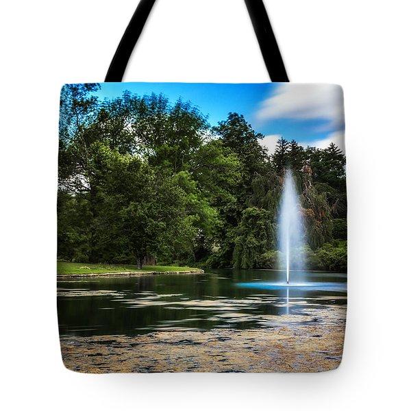 Pond At Spring Grove Tote Bag