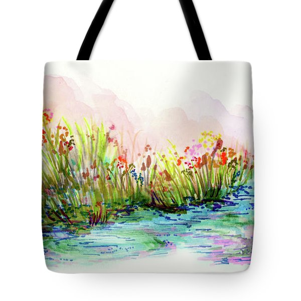 Sunrise Pond Tote Bag