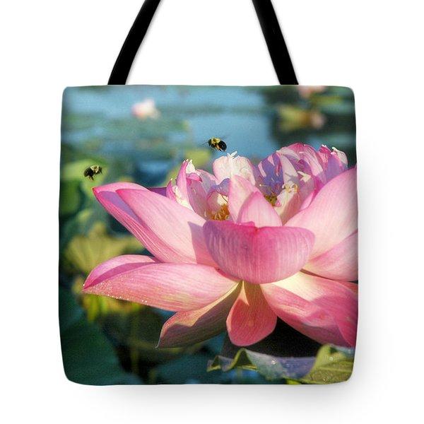 Pond Bees Tote Bag