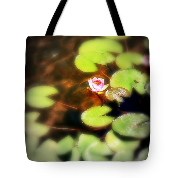 Pond Flower Tote Bag by Perry Webster