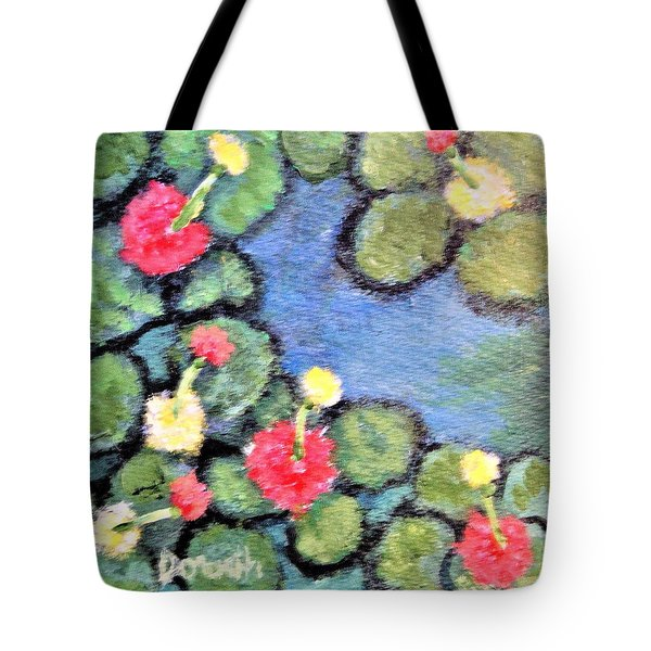 Pond Flowers Tote Bag