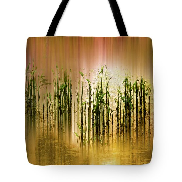 Tote Bag featuring the photograph Pond Grass Abstract   by Jessica Jenney