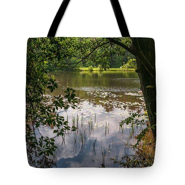 Pond In Spring Tote Bag