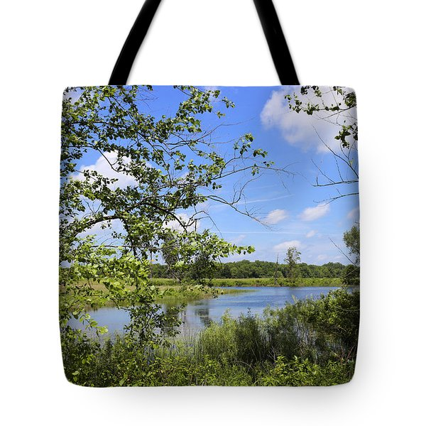 Pond In The Meadow Tote Bag by Scott Kingery