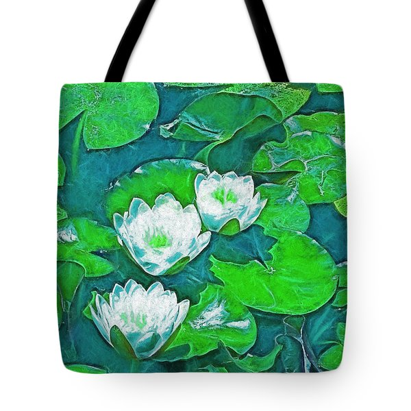 Pond Lily 2 Tote Bag by Pamela Cooper