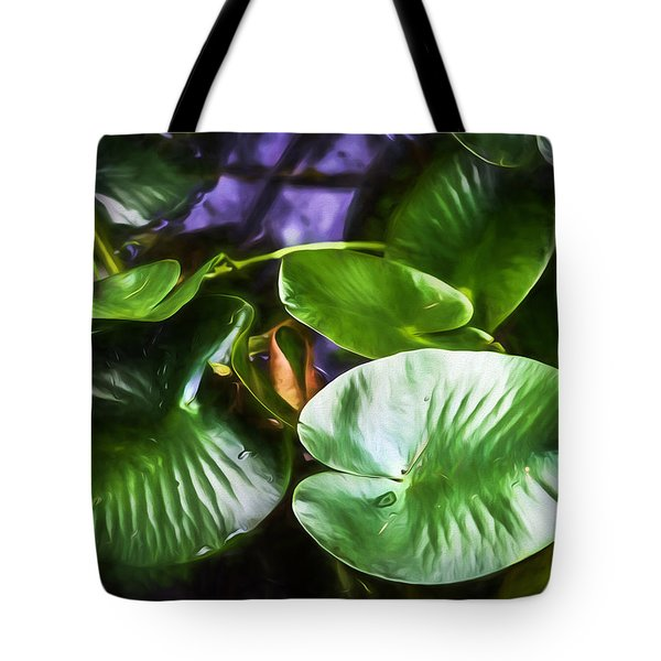 Pond Lily Pads Tote Bag