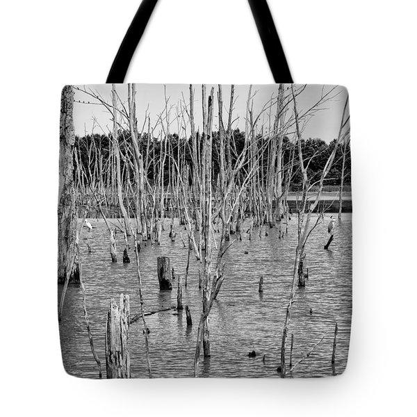 Pond Of Trees Tote Bag