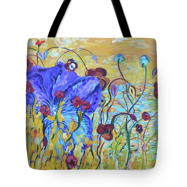 Pond Pansey Tote Bag