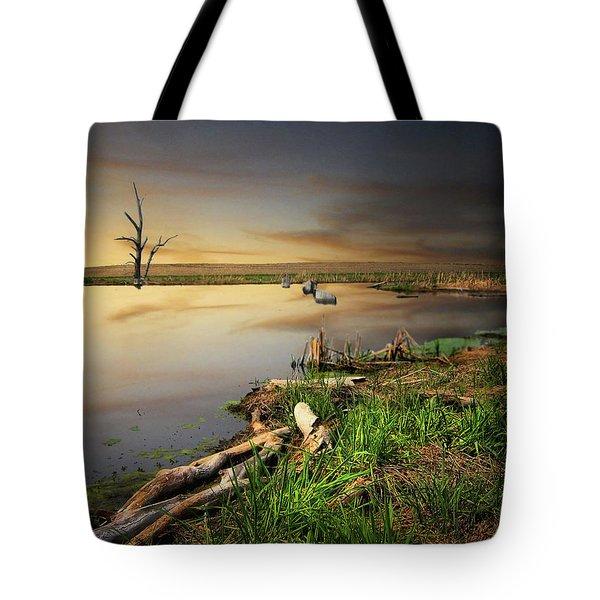 Pond Shore Tote Bag