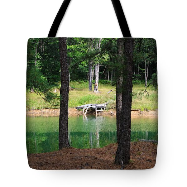 Pond Side Dock Tote Bag